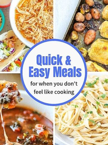 Collage of Quick and Easy Meals