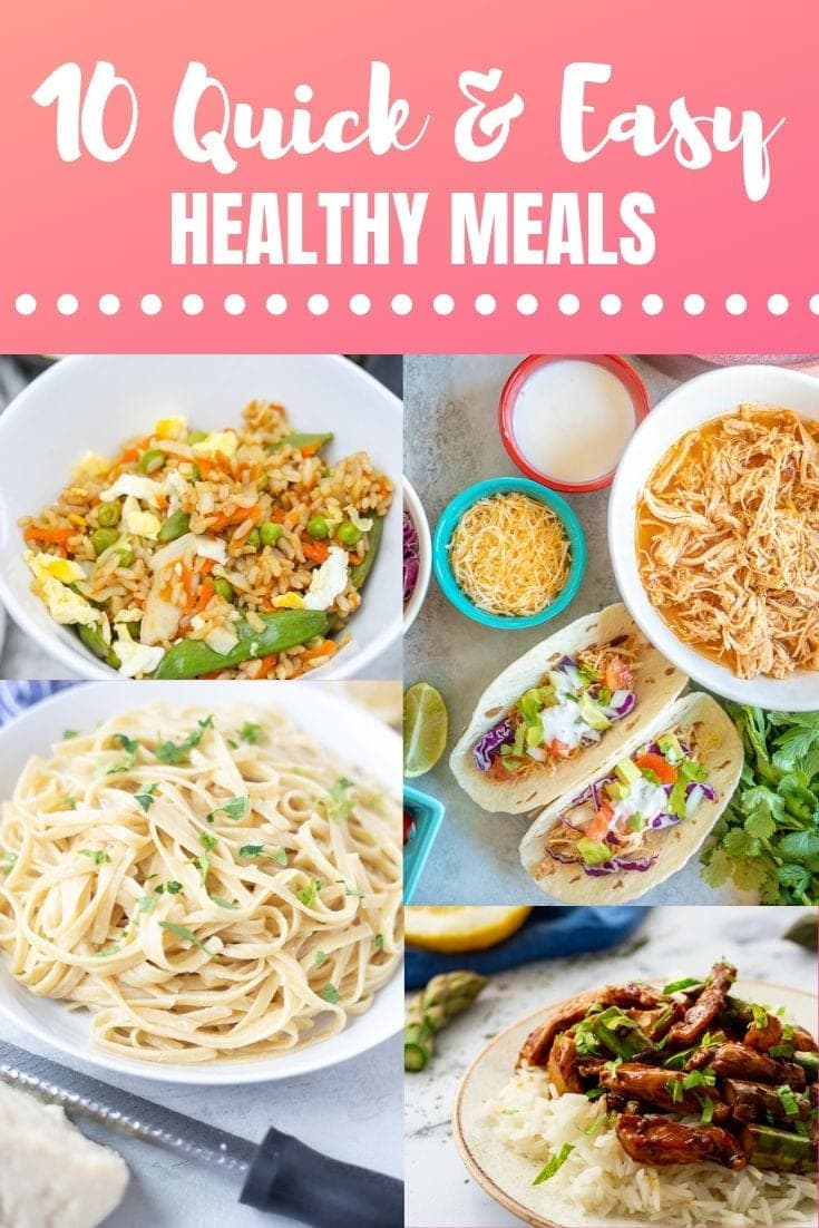 10 Easy Meals to Cook When You are just Too Tired to Cook!!! These quick meals require almost no effort but still get a healthy dinner on the table. #dinner #easymeals #quickmeals