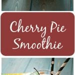 """Cherry Pie Smoothie: All the flavors of a cherry pie in smoothie form complete with a crust """"crumble""""."""