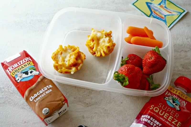 Macaroni and Cheese Lunchbox Muffins