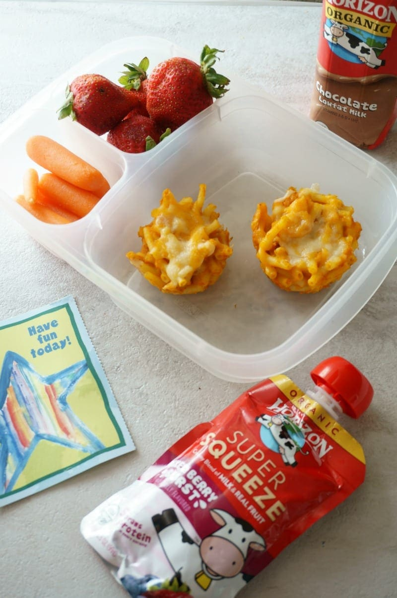 A perfectly balanced, healthy lunchbox make with @Horizon products