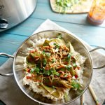 Slow Cooker Mongolian Chicken with Snow Peas