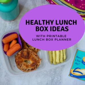 Bagel Lunch Box with Text Healthy Lunch Box Ideas