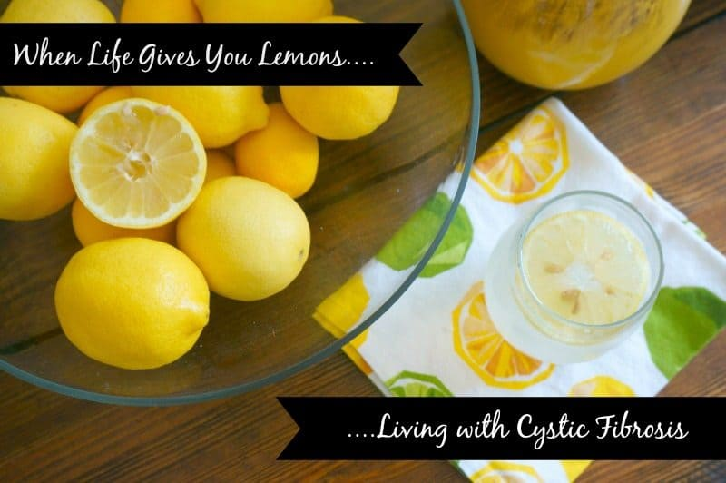 A bowl of lemons with text overlay When Lifes GIve you Lemons