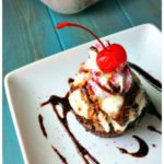 Espresso Brownie Cupcake Sundaes #SundaySupper