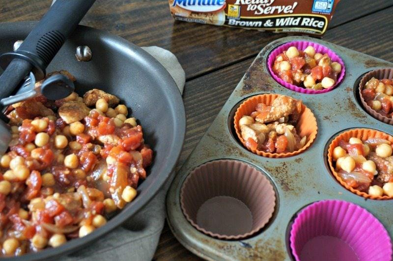 Preparing Individual Freezable Meals.