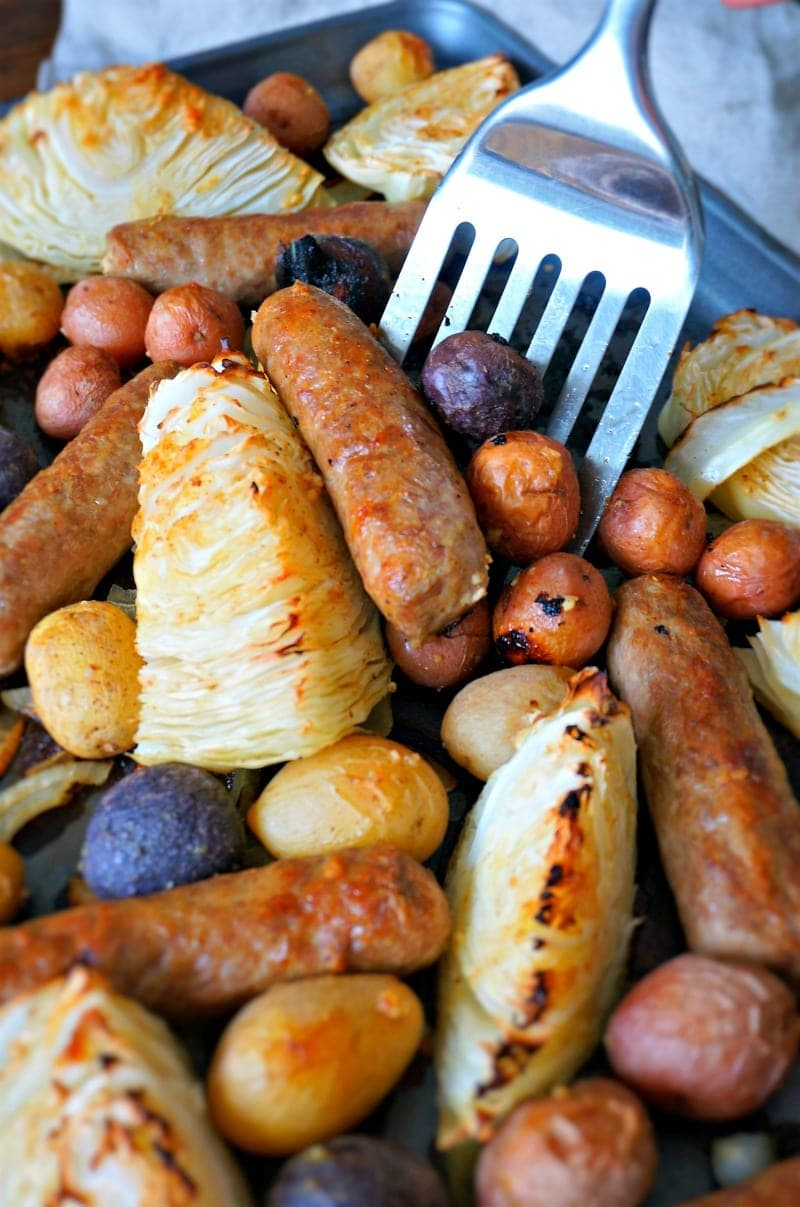Sausage and Potato Sheet Pan Dinner