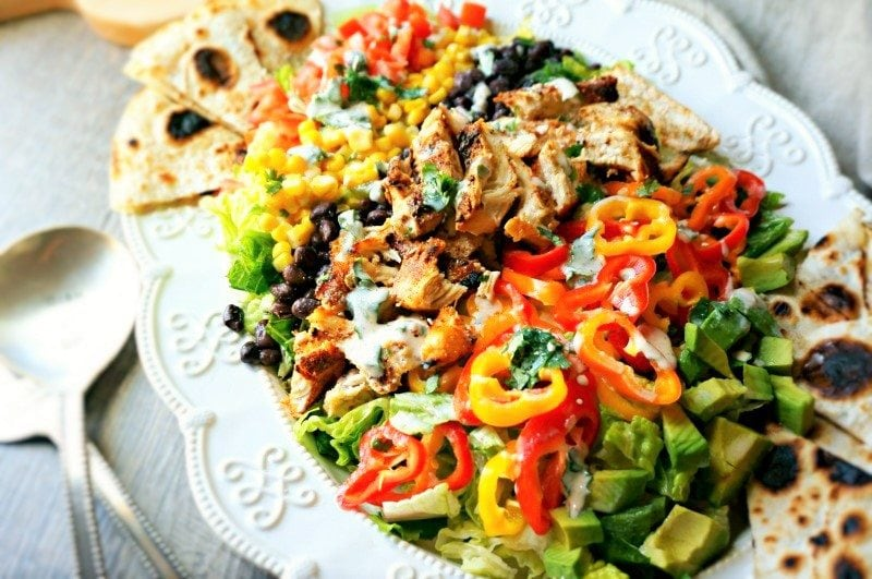 Cobb Salad with Produce for Kids
