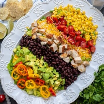White Platter with Southwest Chicken Salad