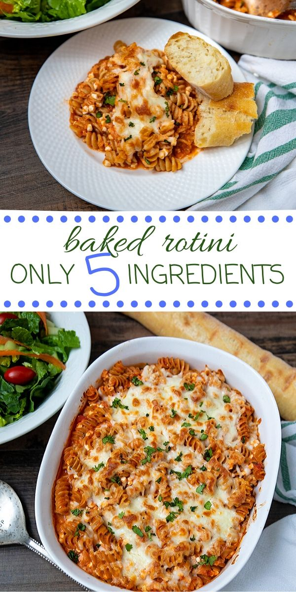 This EASY dinner recipe only requires 5 ingredients--most of which you probably have on hand! This simple pasta bake is frugal and loved by the entire family! Make this easy dinner and avoid the dinner meltdown!
