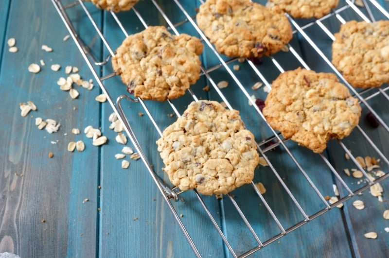 Chocolate Oatmeal Cranberry Cookies