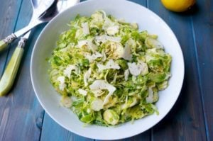 Parmesan Shaved Brussel Sprouts