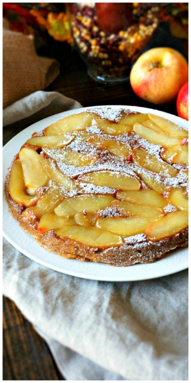 Maple Apple Upside Down Cake