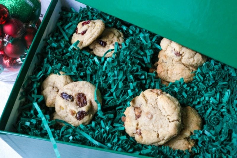 One Cookie Dough turns into 4 different oatmeal cookies. Recipe for Oatmeal Raisin Cookies, White Chocolate Cranberry Oatmeal Cookies, Toffee Oatmeal Cookies, and Triple Chocolate Oatmeal Cookies