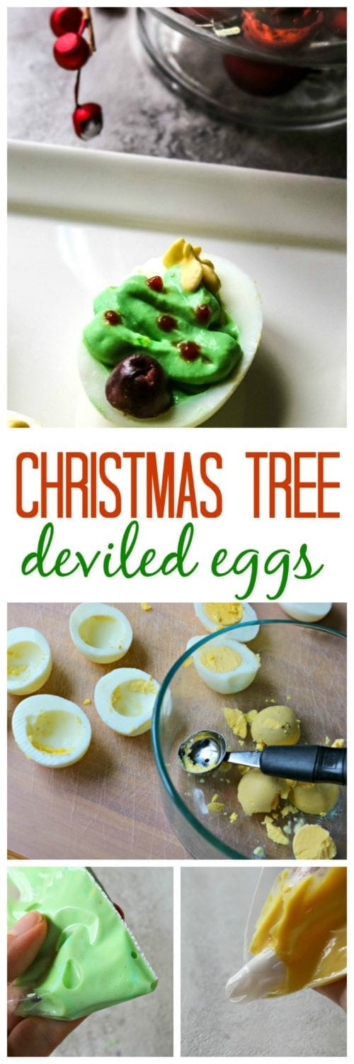 Christmas Tree Deviled Eggs: Transform ordinary deviled eggs into a festive Holiday appetizer with a few simple steps.