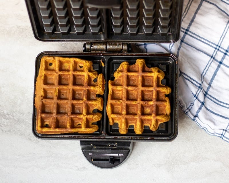 Waffle Iron with Sweet Potato Waffles