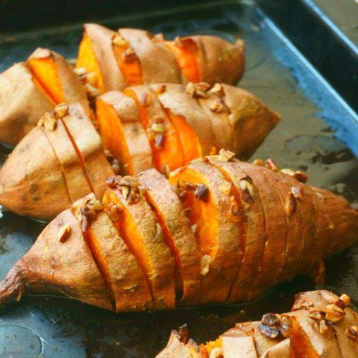 Sweet Potato Hasselback Potatoes