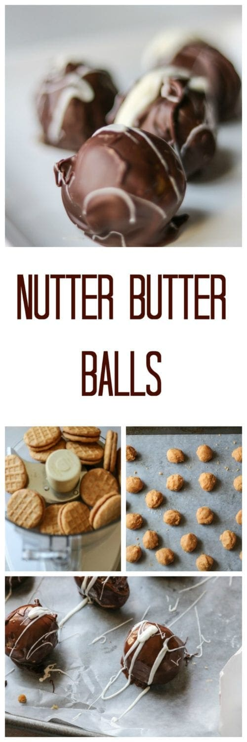 Nutter Butter Balls: Chocolate Peanut Butter perfection in a 4 ingredient, no bake, truffle.