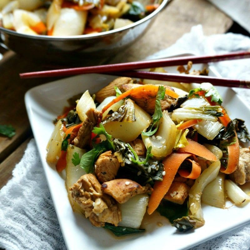 Bok choy chicken stir fry