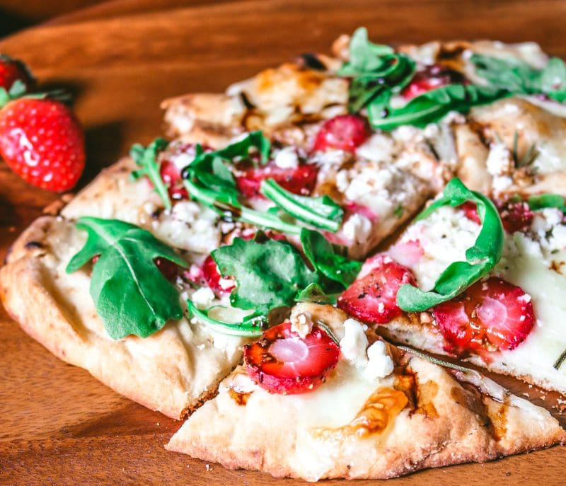 Strawberry and Arugula Pizza