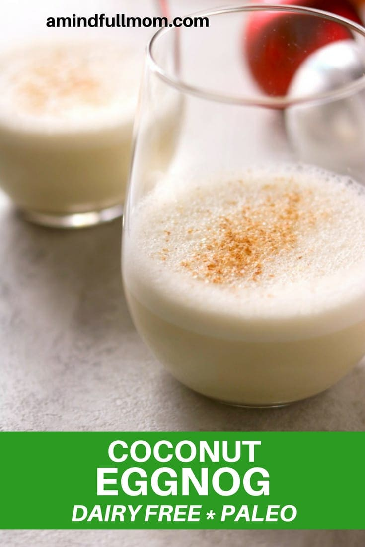 Coconut Milk Eggnog: A Dairy-Free, Naturally Sweetened Version of the Classic Eggnog Beverage. #dairyfree #eggnog #holidayentertaining #Christmas #naturallysweetened