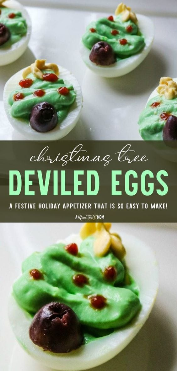 Transform ordinary deviled eggs into a festive Holiday appetizer with a few simple steps. TheseChristmas Tree Deviled Eggs are sure to stand out as an adorable and delicious appetizer perfect for any Christmas Party.