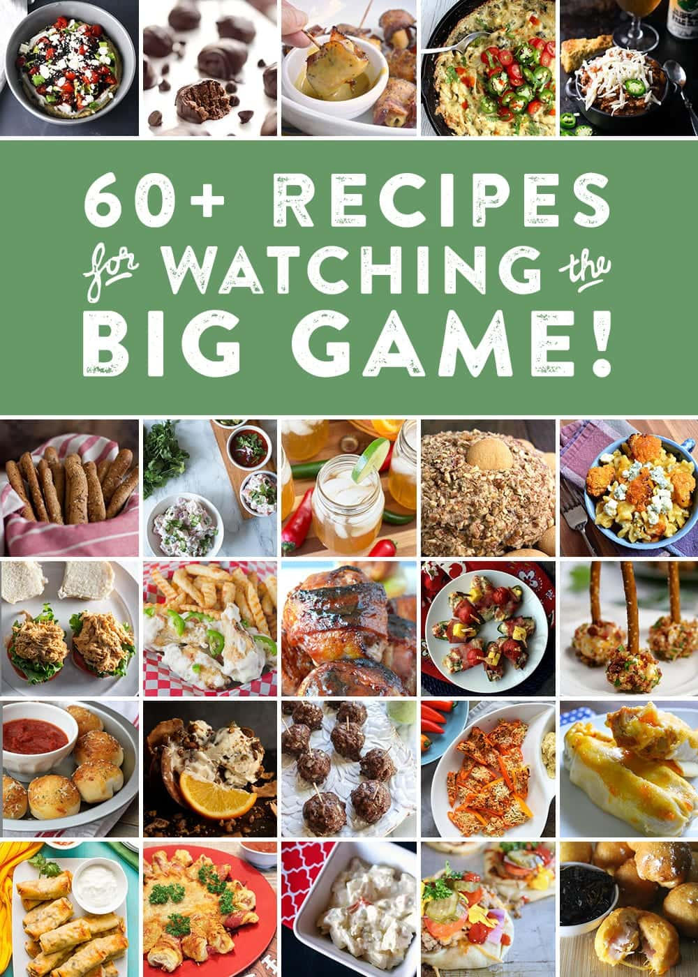 With the football season coming to a close, it's time to start thinking about Big Game parties and inevitably, the recipes you will make and bring to yours! In preparation, I've teamed up with my football blogger friends in one final collaboration to bring you some brilliant Big Game recipe ideas. We've made appetizers, entrees, desserts and even drinks.