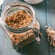Jar of baked Homemade Granola