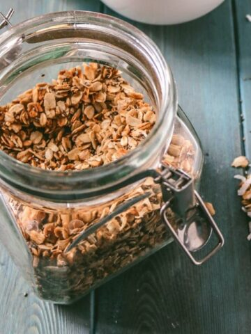 Jar of baked Homemade Granola