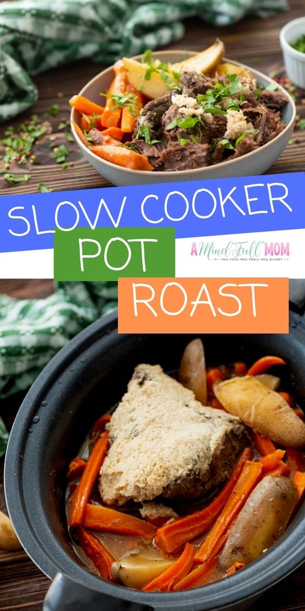 Forget complicated meals! This Slow Cooker Pot Roast is the EASIEST pot roast recipe ever. With only 5 ingredients and minimal prep work, you will have one of the most comforting, delicious Pot Roasts EVER! This Crock Pot Pot Roast is truly the best!