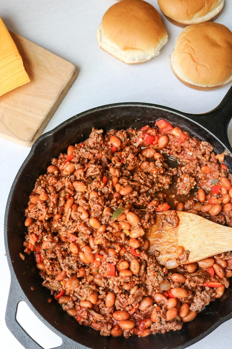 Homemade Lightened Up Sloppy Joes