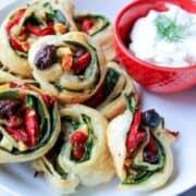 Greek Pinwheels with Tzatziki