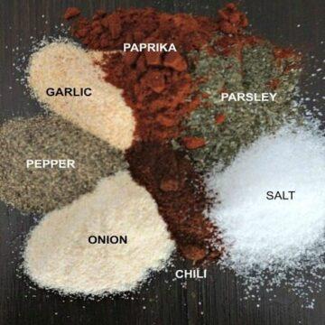 Seasonings for Homeamde Seasoned Salt on board