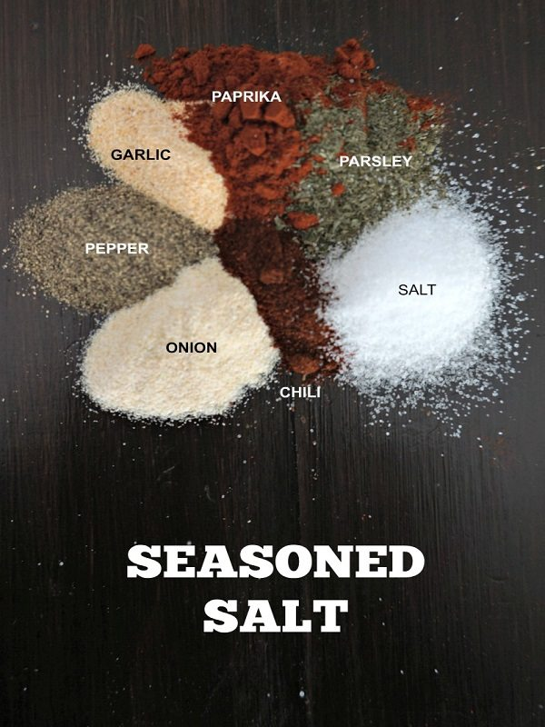 The perfect blend of spices make up homemade seasoned salt. This easy recipe will jazz up any recipe. Leave out the salt for a copy-cat version of Salt-Free All Purpose Seasoning.