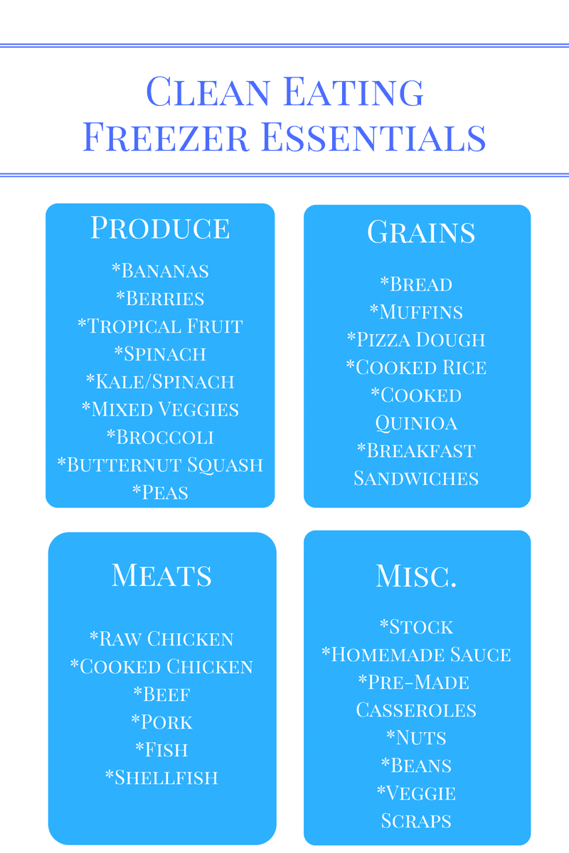 Clean Eating Freezer Essentials: What to stock in your freezer to make eating healthy a reality, even in a time crunch.