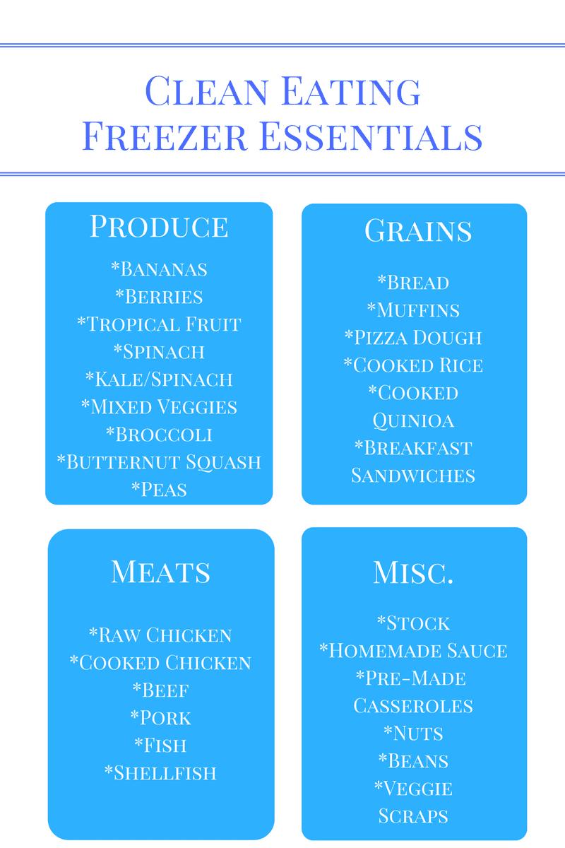 List for freezer friendly foods