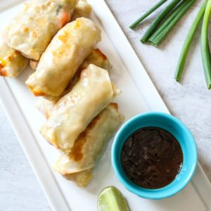 Easy Vegetarian Pad Thai Egg Rolls