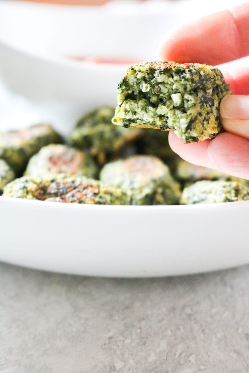 Spinach and Zucchini Bake up in a cheesy nugget.
