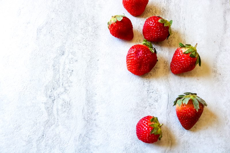 Florida Strawberries on white counter top