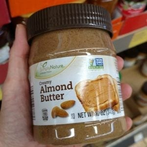 ALDI carries a variety of organic nut butter
