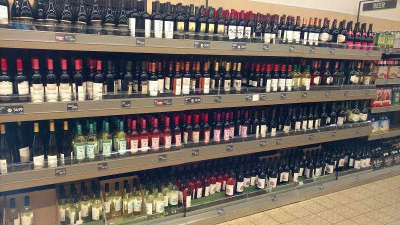 ALDI alcohol selection