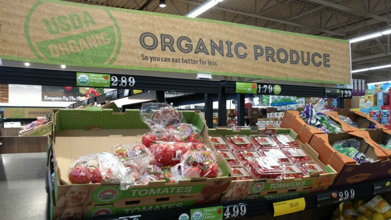 ALDI Organic Produce display in store
