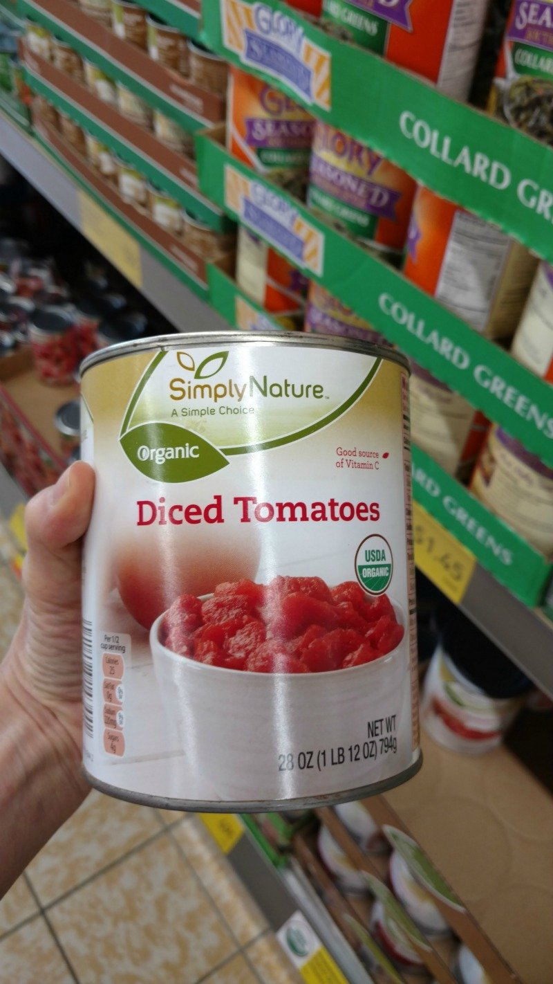 Can of Diced Organic Tomatoes