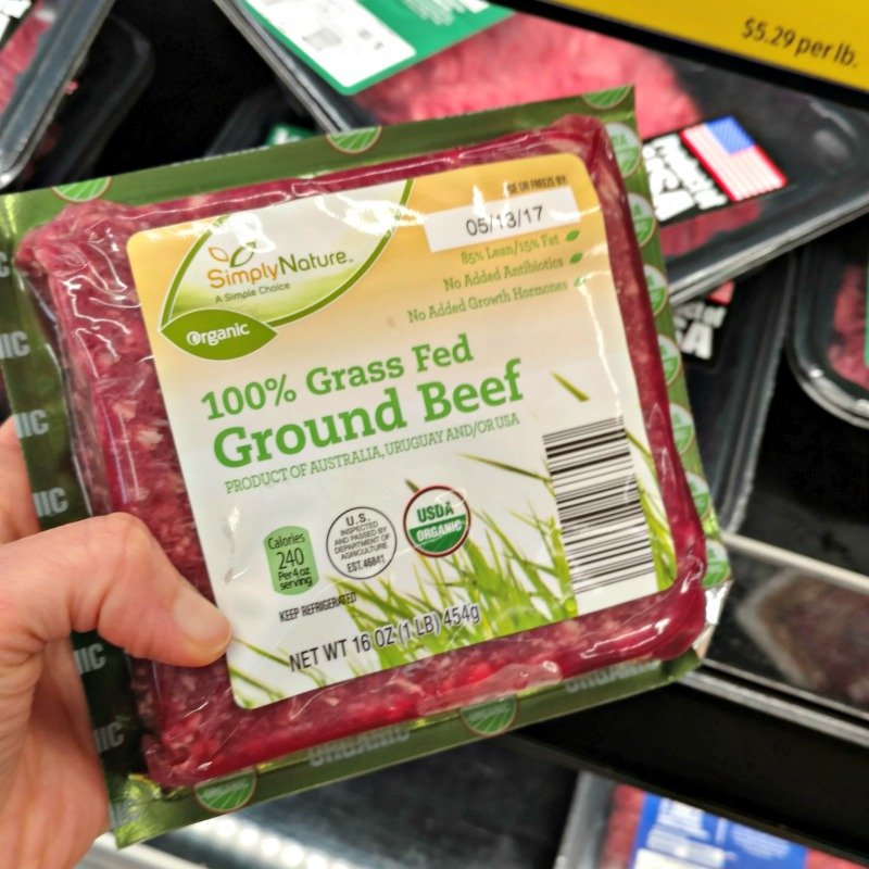 package of grass fed ground beef