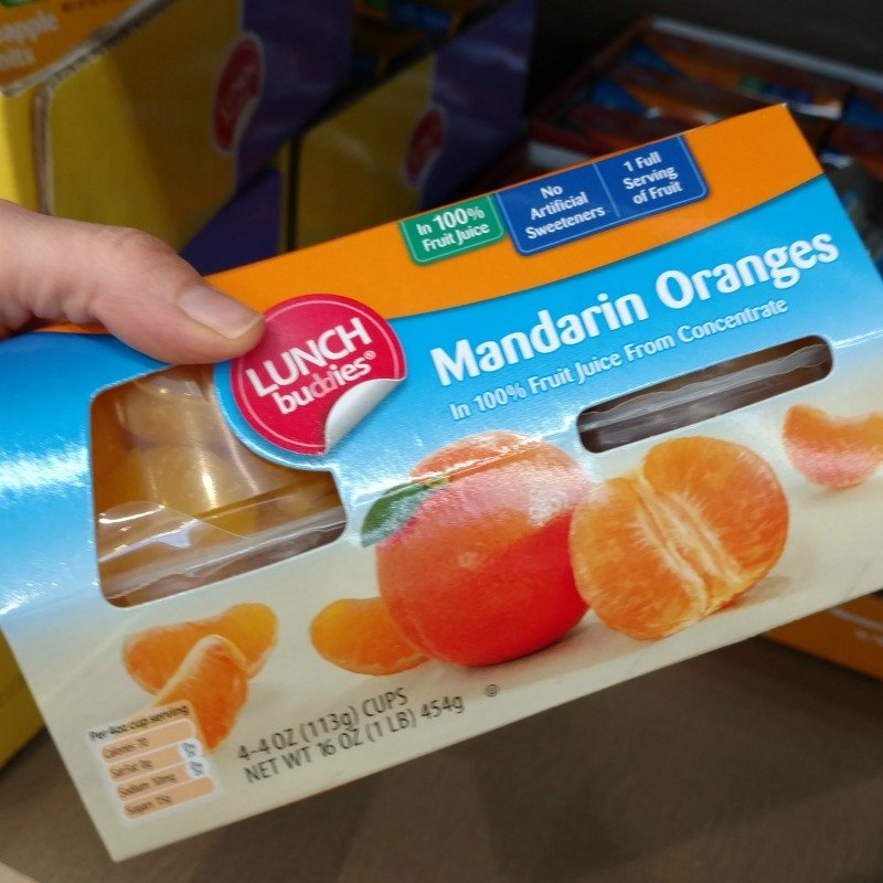 100% fruit juice lunch snacks