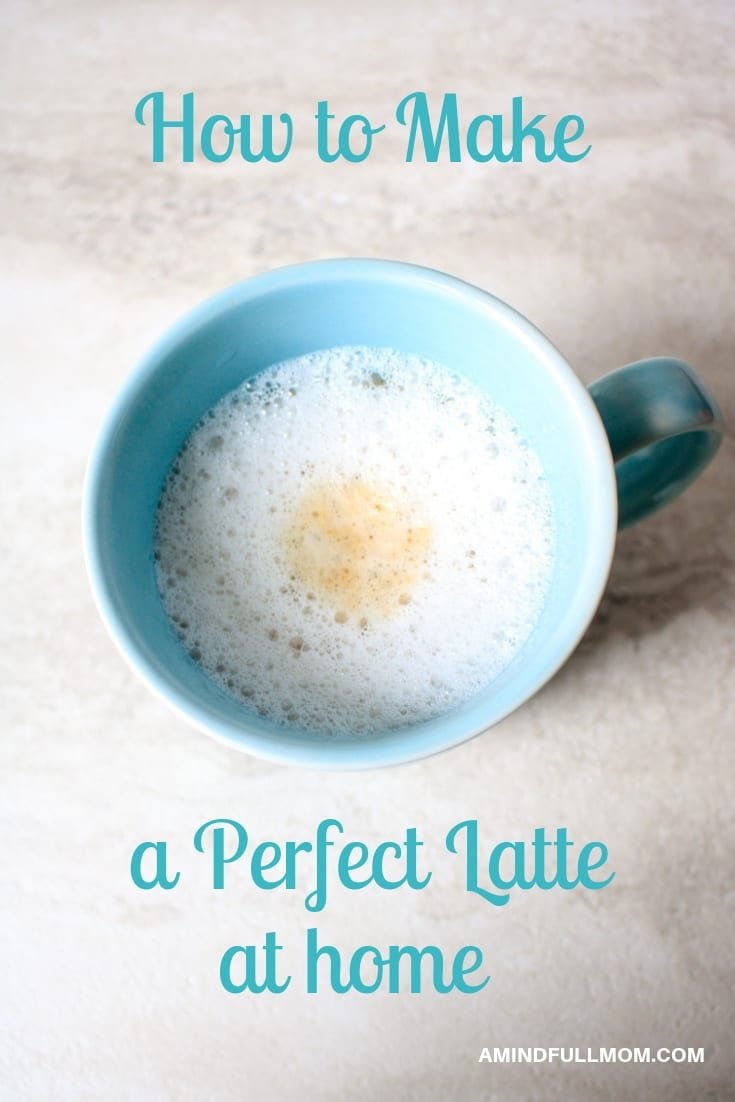 Skip the expensive chain's lattes and make your own latte at home with 2 simple ingredients and a kitchen tool you have at home.