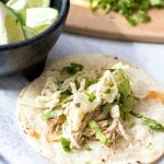 Pork Carnitas for the Crock-Pot with Mexican Slaw