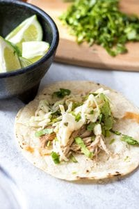 Slow Cooker Pork Carnitas with Mexican Slaw #SundaySupper