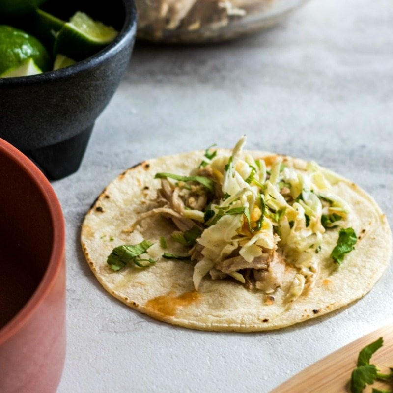 Slwo Cooker Mexican Tacos with Slaw