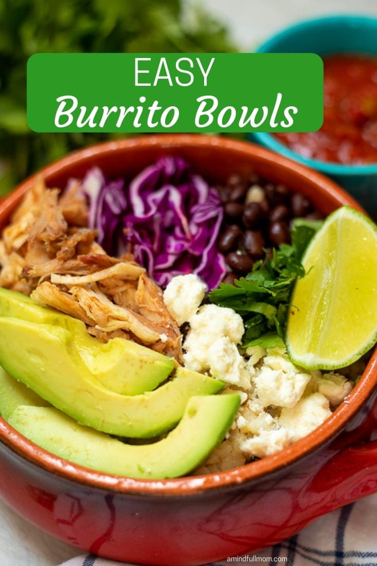 There is nothing EASIER or more delicious than a burrito bowl. Seasoned meat, beans, and rice are the base of this easy burrito bowl, but the toppings are key! These easy burrito bowls are sure to gain a spot on your weekly meal rotation! #burritobowl